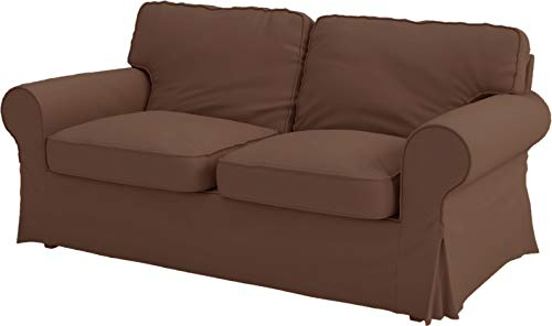 The Ektorp Two Seater Sofa Bed Cover Replacement IS Custom Made For Ikea Ektorp 2 Seater Sleeper Only, A Quality Sofa Slipcover Replacement. (Dense Cotton Coffee)