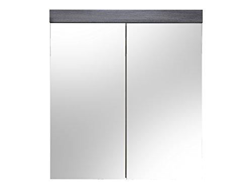 Trendteam Smart Living hoge badkamerkast Spiegelkast. 72 x 79 x 17 cm Rookzilver decor