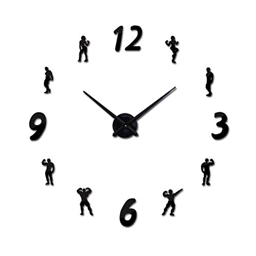 Gudojk horloges, kwarts, mode, 3D, grote wandklok, acryl, spiegels, zelfklevend, voor woonkamer, moderne decoratie