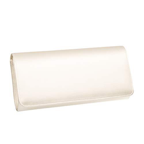 Rainbow Club Brauttasche Belle - Damen Handtasche Ivory/Creme Satin