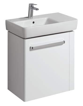 Keramag Renova Nr. 1 Comprimo NEU Waschtisch-Unterschrank 65 cm Weiß hochglanz, Weiß matt; Handtuchhalter rechts