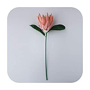 HaHapo Luxury Big Artificial Africa Protea Cynaroides Silk King Flowers Branches Fake Flores for Home Decoration Wreath Plants Floral