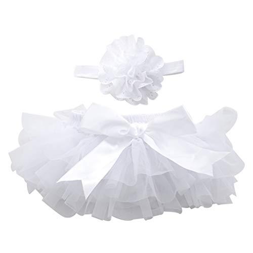 FENICAL Falda de tutú y Diadema de Flores Bebé niñas Vestido de cumpleaños Headwear SizeM...