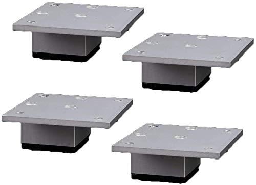 Muebles pies de Mesa de Metal Patas de Muebles de Cocina Pies de aleación de Aluminio de Repuesto Plaza Risers Muebles Patas Sofá Sofá Cama Armarios Risers con Tornillos, Juego de 4 (Color : 5cm)
