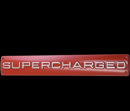 3D Chrom rot Emblem Aufkleber Logo Supercharged Tuning Motor Renn Sport L119