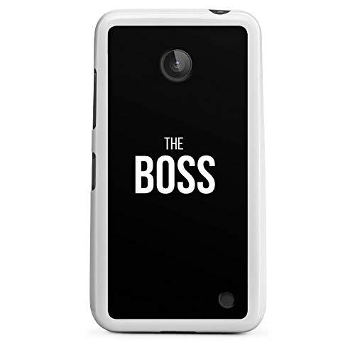 DeinDesign Silikon Hülle kompatibel mit Nokia Lumia 630 Dual SIM Hülle weiß Handyhülle Boss Liebe Beziehung