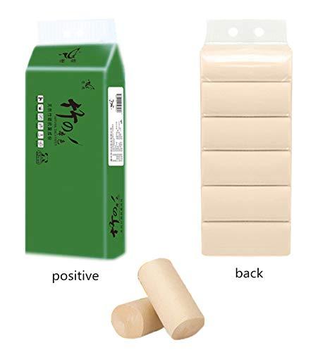 Bianjesus bamboehout Pulp 4-laags wc-papier op rol, zijdepapier, Hollow papier op rol, kern papieren handdoeken (24 rollen)