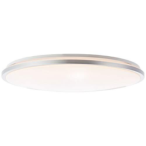 BRILLIANT JAMIL LED Wand- und Deckenleuchte Durchmesser 48 cm Kunststoff/Metall Weiss/silber