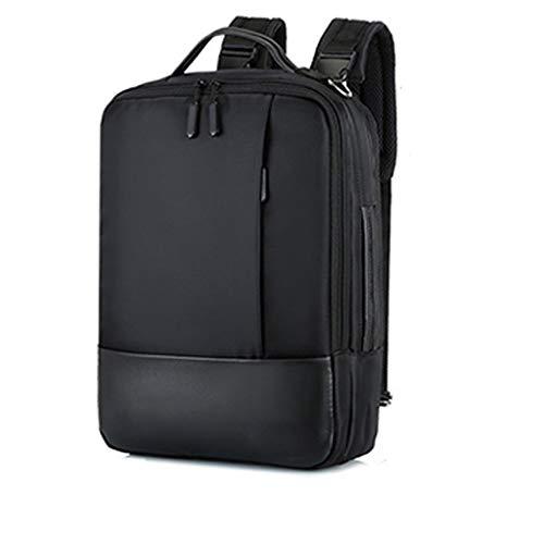 KKCD Anti-diefstal Waterdichte USB Oplaadpoort Laptop Rugzak Notebook Handtas Case Voor Macbook Air Pro13-15 Inch Schoudertas, Zwart