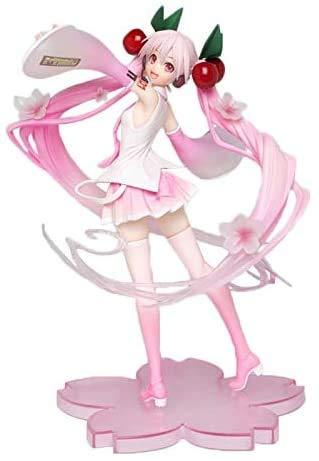JIEMIANY Anime Figur 18cm Anime Miku Hatsune Pink Sakura Geist Miku PVC Mädchen Modell Spielzeug Sammeln von Geschenken für Mädchen Ornamente Exquisite Sammlung, (AAcD)