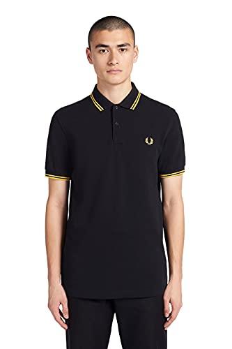 Fred Perry M3600, Polo Para Hombre, Negro (Black/Yellow), Medium