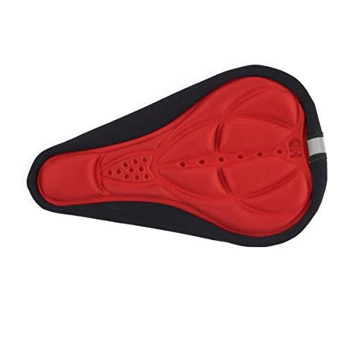 Greatangle Funda de sillín de Asiento de EVA para Bicicleta Gruesa, cojín Suave para Bicicleta con Forro Antideslizante con cordón Ajustable Rojo