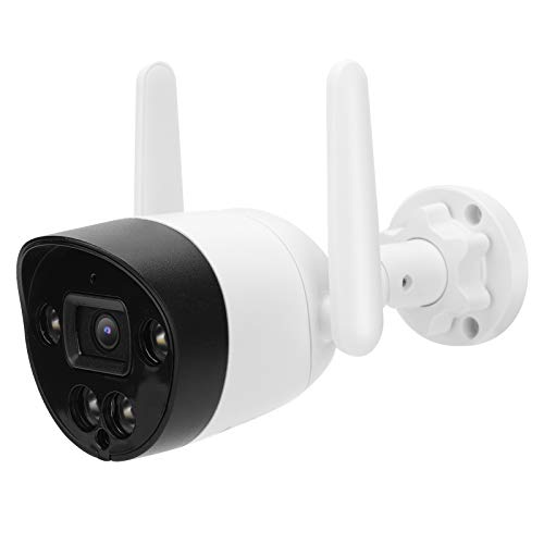 Cámara de seguridad inalámbrica para exteriores 1080P Batería recargable Cámara CCTV IP66 Cámara WiFi impermeable con detección de movimiento PIR para seguridad en el hogar(EU PLUG)