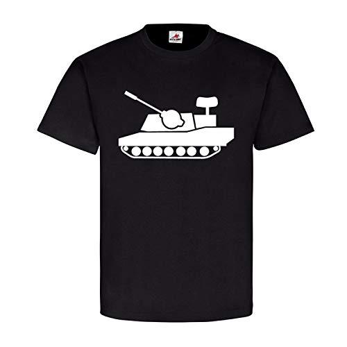 Flak Panzer Gepard Flugabwehrkanonenpanzer FlakPz Bund - T Shirt #12832, Farbe:Schwarz, Größe:XL