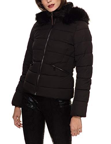 ONLY Damen ONLCANA Nylon FUR Jacket OTW Jacke, Schwarz (Black Black), 38 (Herstellergröße: M)