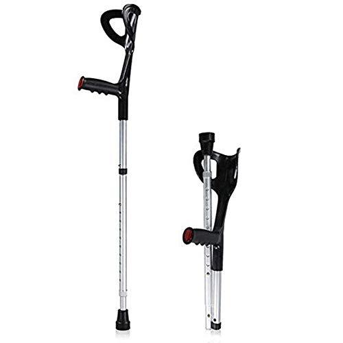 KILLM Muletas Plegables/bastón - Antideslizante de Aluminio antebrazo Palo telescópico Ajustable, Caminar...