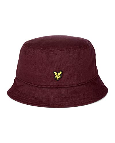 Lyle & Scott Uomo Cappello Bucket Bordò Mod. HE800A