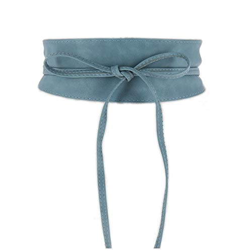 FASHIONGEN - Cintura Donna Larga Poliuretano, MICA - denim blu, 2XL