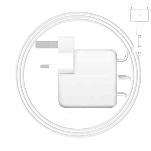 Rababa Compatible with Macbook Pro Charger - 85W UK Plug Magnetic T Type Compatible with MacBook Pro 13'' and MacBook Air 13'' 11'' Late 2012