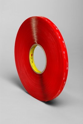 """3M VHB 4910 Acrylic Adhesive Foam Adhesive Tape, 200 degree F Performance Temperature, 40 mil Thick, 36 yds Length x 1/2"""" Width, Clear"""
