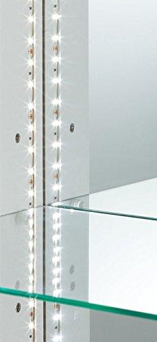 幅70cm 専用追加用ガラス棚板 コレクションケース 省エネ LED ライト付き 鍵付き ガラス 棚 鏡 完成品 大川家具 リビング 収納 コレクションボード フィギュアケース ディスプレイケース 22000026003