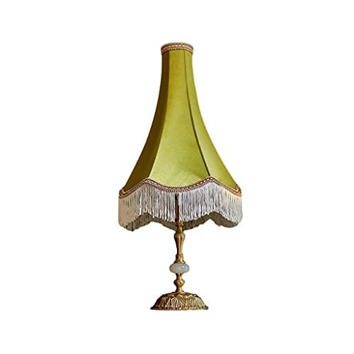 SPNEC Lámpara de Mesa de Noche Retra Francesa All Brass Nordic Medieval Simple Dormitorio Home American Mesa Lámpara