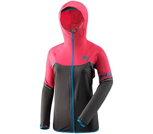 DYNAFIT W Alpine Waterproof 2.5L Jacket Colorblock-Pink-Schwarz, Damen Jacke, Größe 38 - Farbe Fluo Pink