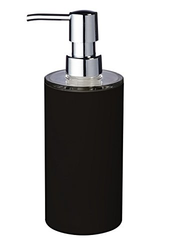 Ridder 20035100 Distributeur de Savon Touch Synthétique Noir 6,7 x 6,7 x 19 cm