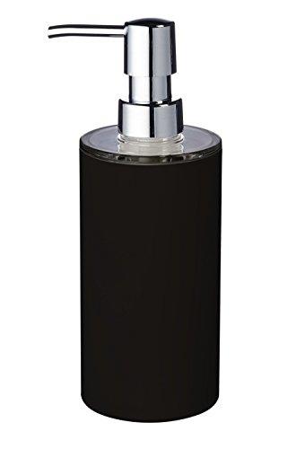 Ridder Touch - Dispenser di sapone, Poliresina, Nero , 6.7 x 6.7 x 19 cm