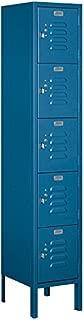 Salsbury Industries 65152BL-U Five Tier Box Style 12-Inch Wide 5-Feet High 12-Inch Deep Unassembled Standard Metal Locker, Blue