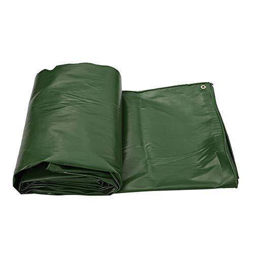 ZEMIN Bâche Protection Couverture Imperméable Crème Solaire Poissons Nature Qualité Boutonnière PVC, Vert, 550G/M², Plusieurs Tailles (Color : Green, Size : 1.8X3.8m)