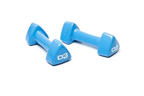ESCAPE Hantel Studio Paar - Mancuerna (hasta 5 kg), Color Azul, Talla 3 kg
