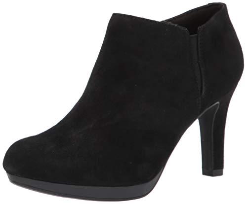 Clarks Women's Adriel Lily Ankle Boot, Black Suede, 11Medium