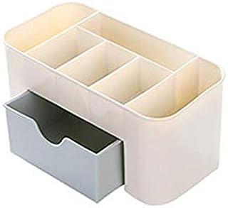 Plastic Cosmetic Storage box Multi-function Desktop Storage boxes Drawer Makeup Organizers Stationery Storage Organizer-BLUE