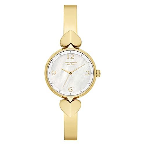Kate Spade - Reloj analógico de Cuarzo con Correa de Acero Inoxidable en Tono Dorado para Mujer KSW1643