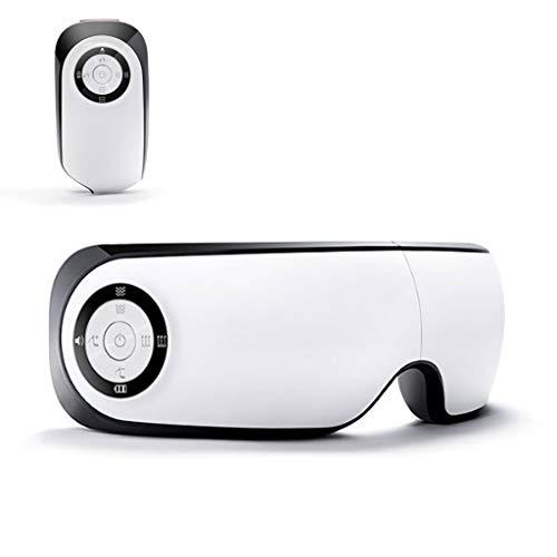 DONGBALA Masajeador de Ojos, Dispositivo para el Cuidado de los Ojos Plegado de 180 Grados Masaje Doble Globo música Carga para la Fatiga Ocular Alivio del Dolor Estudiante Oficina Obrero 1300 Mah