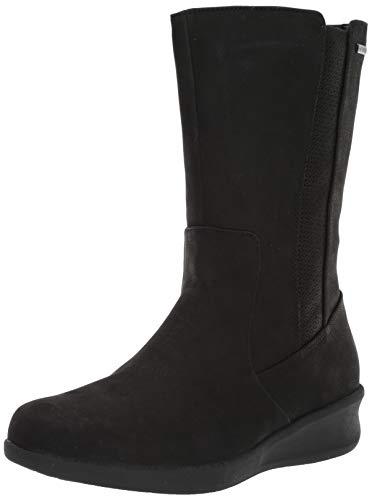 Aravon Women's Fairlee MID Boot Calf, Black, 10 2E US