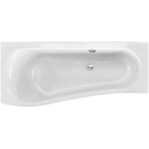 Acryl Raumsparwanne Melrose 170 x 75 cm links weiß Wanne Badewanne Eckbadewanne - Styropor Wannenträger (mit Wannenträger)