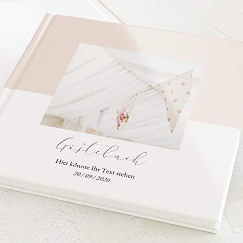 sendmoments Gästebuch, zum Auslegen und Eintragen, Pastell-Farbe, individuell mit Text und...