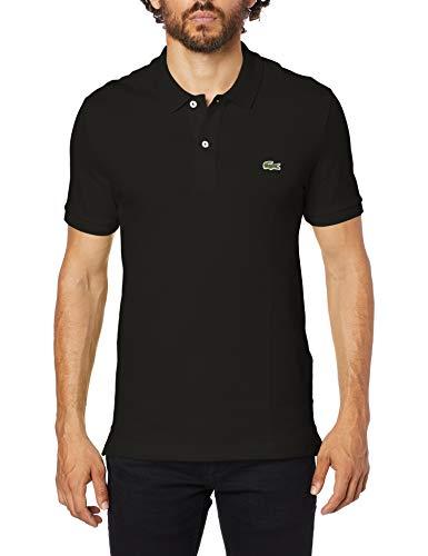 Camisa Polo Slim Fit, Lacoste, Masculino Preto P