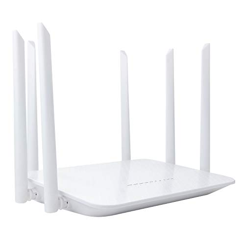 Dionlink Unlocked 1200Mbps 4G LTE Router with SIM Card Slot -Wireless WiFi Hotspot, Support T-Mobile AT&T (6 Antennas)