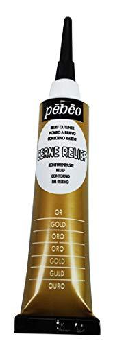Pébéo 773300 - Tubo de decoración acrílica Opaca para Cristal (20 ml), Color Dorado