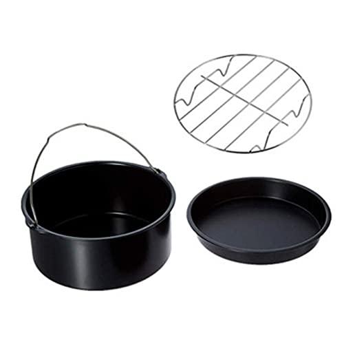 Cesta para tartas, parrilla antiadherente reutilizable, accesorios para freidora de aire, cesta para hornear, parrilla, cesta para tartas, bandeja para pizza, freidora de aire duradera (6 pulgadas)