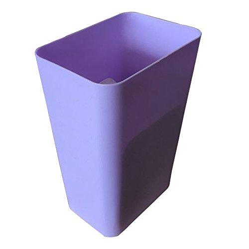 Bacs à ordures extérieurs XiuxiutianSur Le Plastique Poubelle barrée 22 * 13 * 34cm, Violet