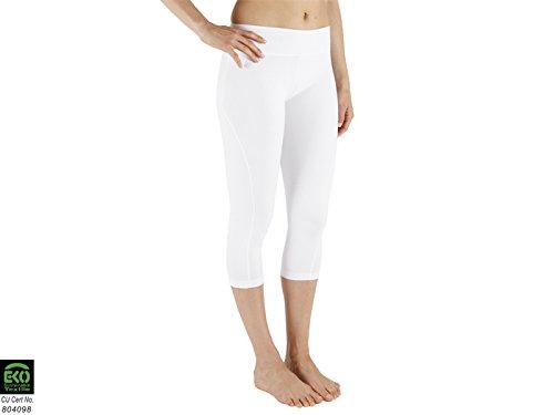Chin Mudra–Pantaloni da yoga a pinocchietto–Bianco, bianco, X-Large