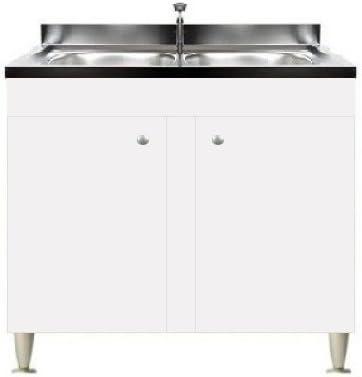 Mobile Cucina 2 Ante Con Lavello Inox 90 2 Vasche Componibile Sottolavello Amazon It Casa E Cucina
