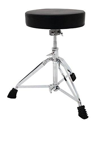 showking Schlagzeugsitz Lifter XL, höhenverstellbar, schwarz - großer Schlagzeug - Hocker/schwarzer Drumsitz