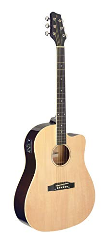 Stagg Cutaway Acoustic Electric Dreadnaught Guitar SA35DSCE N