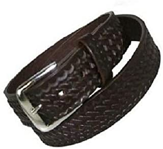 6582-BRN-3-40-GLD Off Duty Garrison Size 40 Basketweave Duty Belt