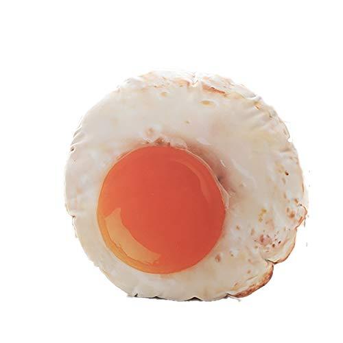 Cuscino 3D per uova in camicia, simpatico cuscino a forma di uovo fritto, simulazione di uova fritte in peluche, cuscino realistico fatto a mano per bambola con uovo in camicia per bambini adulti